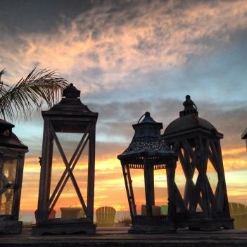 Lanterns at sunset, Anna Maria Island