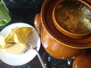 Two weeks later, tasty Sauerkraut!