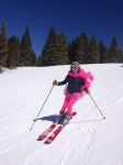 A special shot of Sweet Pea's first ski season